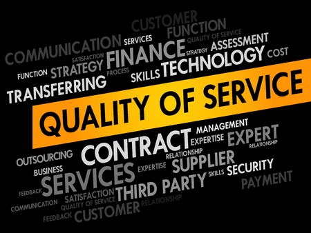maintainability: Quality of Service words cloud, business concept Illustration