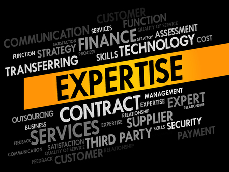 shared goals: Expertise words cloud, business concept