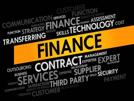 finance concept: FINANCE words cloud, business concept