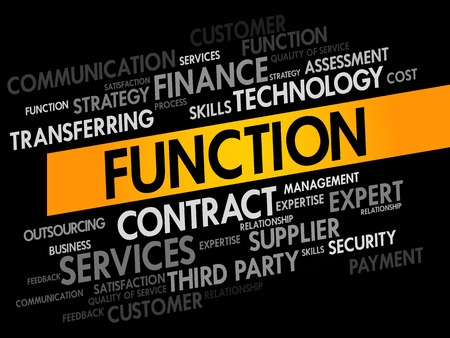 fulfill: Function business concept words cloud Illustration