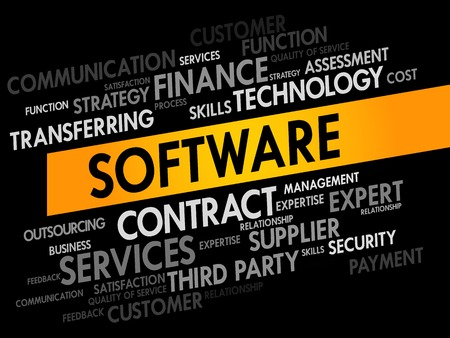 product design specification: Software Word cloud, business concept