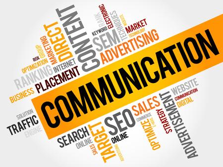 messaging: COMMUNICATION word cloud, business concept