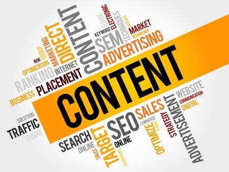 keywords link: CONTENT word cloud, business concept