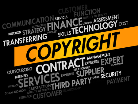 expires: COPYRIGHT word cloud, business concept