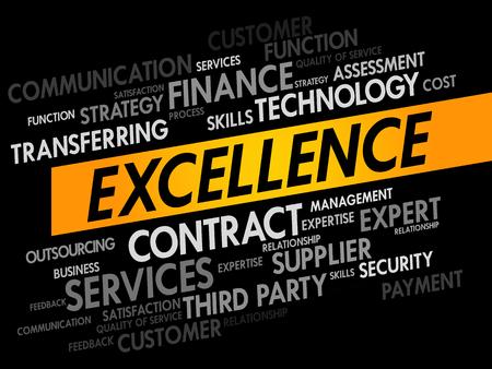 kiválóság: EXCELLENCE word cloud, business concept Illusztráció