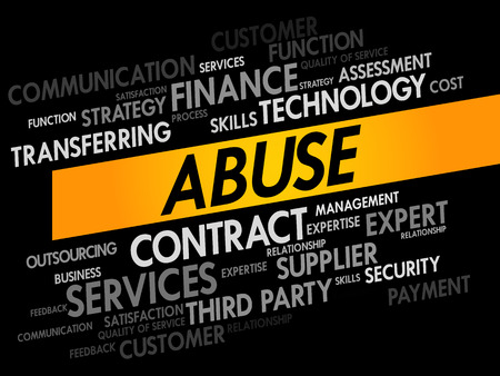 bribery: Abuse word cloud, business concept Illustration