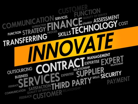 innovator: INNOVATE word cloud, business concept