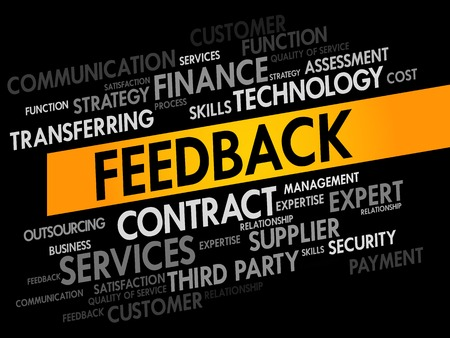 feed back: Feedback words cloud, business concept