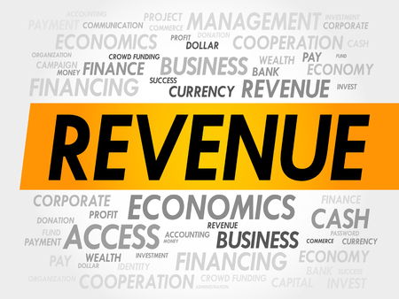 revenue: REVENUE word cloud, business concept Illustration