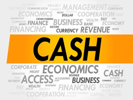 liabilities: CASH word cloud, business concept Illustration