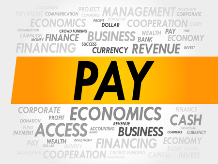 advertiser: PAY word cloud, business concept