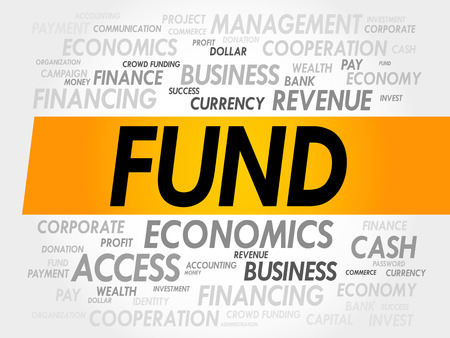 fund: FUND word cloud, business concept