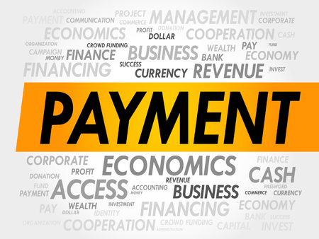 variable rate: PAYMENT word cloud, business concept