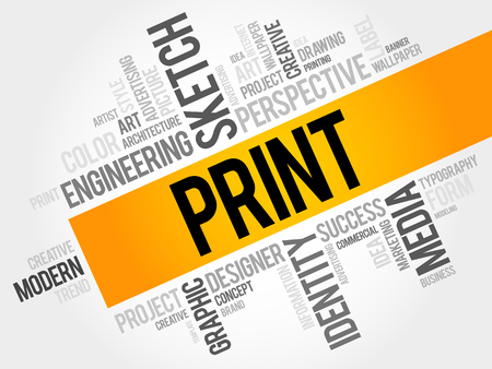 Print word cloud concept