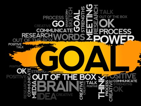 business collage: GOAL. Word business collage, vector background