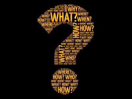 Question mark, Question words vector concept Illustration