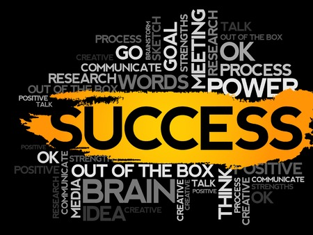 business collage: SUCCESS. Word business collage, vector background