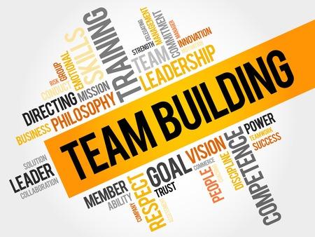 business team: TEAM BUILDING word cloud, business concept