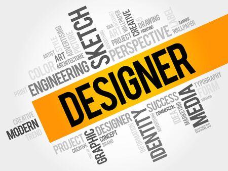 webdesigner: DESIGNER word cloud concept