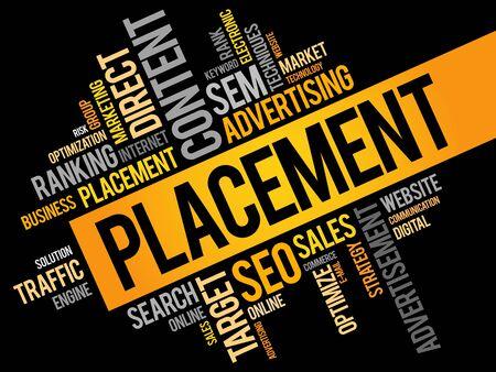 placement: PLACEMENT word cloud, business concept