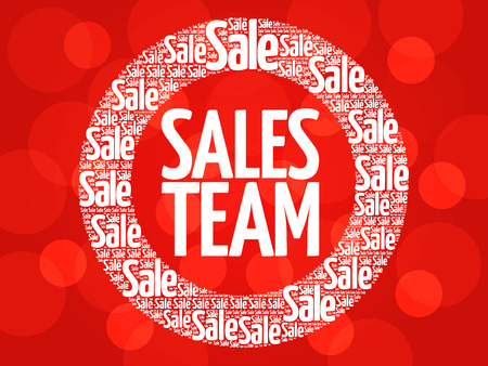 sales team: Sales Team stamp vector words cloud, business concept background Illustration