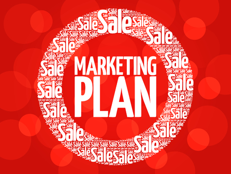 marketer: Marketing Plan stamp vector words cloud, business concept background