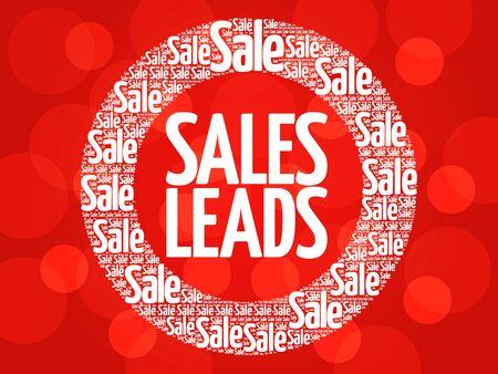 communicative: Sales Leads vector words cloud, business concept background Illustration