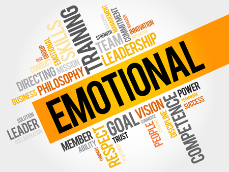 emotional: EMOTIONAL word cloud, business concept
