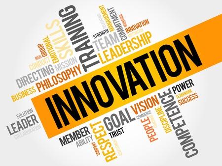 INNOVATION Wortwolke, Business-Konzept Standard-Bild - 48126460