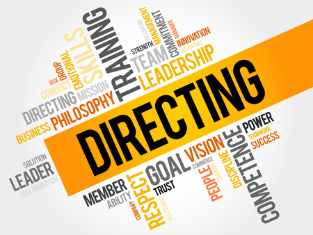 DIRECTING word cloud, business concept