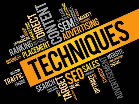 online analytical processing: Techniques word cloud, business concept