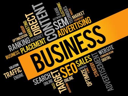 business word: BUSINESS word cloud, business concept