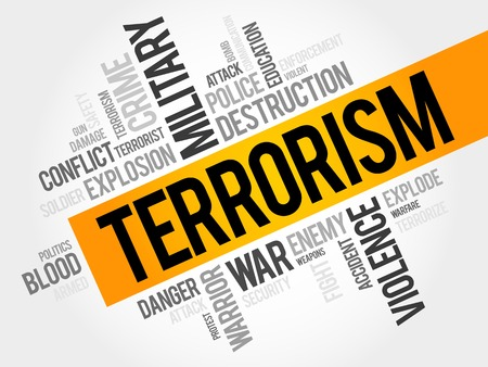 threat: Terrorism word cloud concept