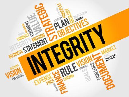 Integriteit woordwolk, business concept