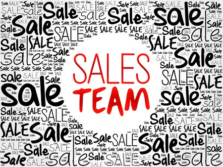 sales team: Sales Team word cloud background, business concept Illustration