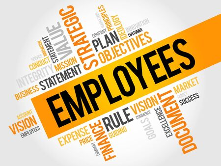 job search: Employees word cloud, business concept Illustration