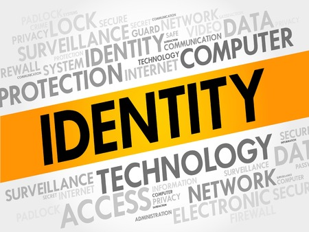 authorisation: IDENTITY word cloud, security concept Illustration