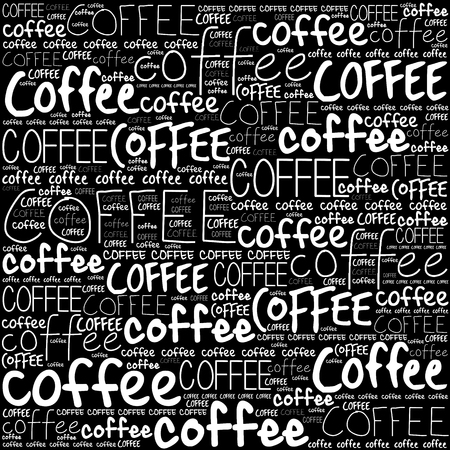 words cloud: Coffee words cloud poster background