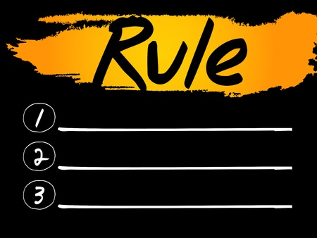 normative: Rule Blank List concept background