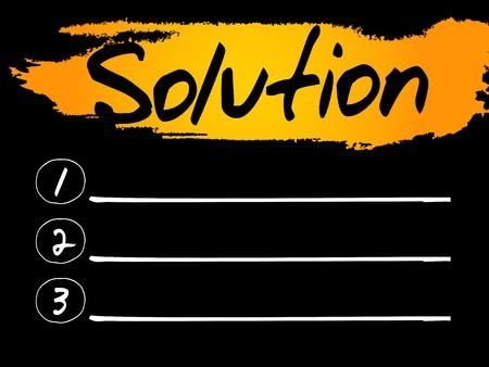 describes: Solution Blank List concept background Illustration
