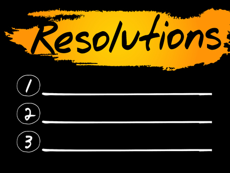 resolutions: Resolutions Blank List concept background