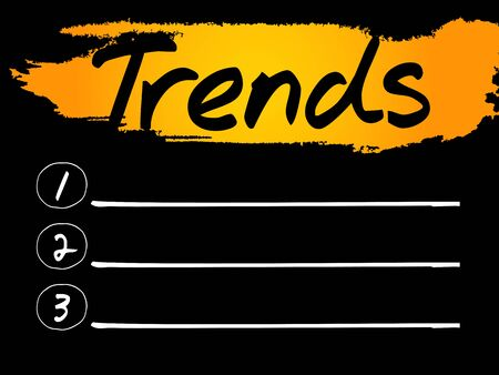 trends: Trends Blank List concept background