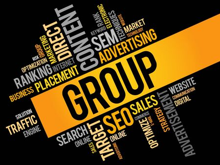 empowerment: GROUP word cloud, business concept Illustration