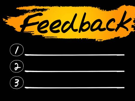react: Feedback Blank List concept background