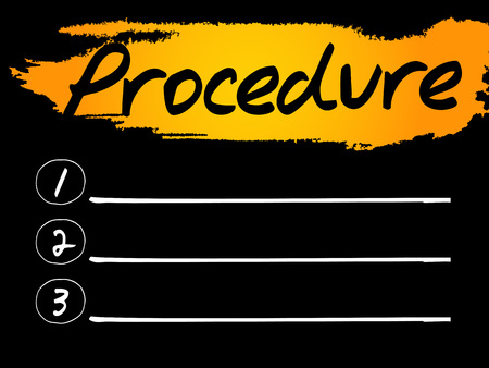 procedure: Procedure Blank List concept background