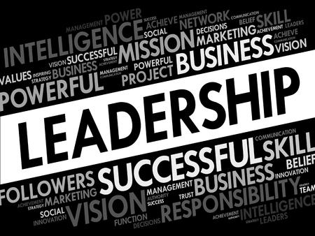 seguidores: Leadership Word Cloud, business concept Vectores