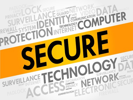 intruder: SECURE word cloud, business concept