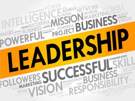 charismatic: Leadership Word Cloud, business concept Illustration