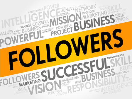 seguidores: FOLLOWERS word cloud, business concept Vectores