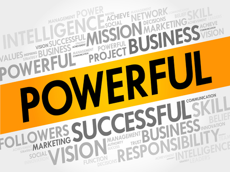 fulfill: POWERFUL word cloud, business concept